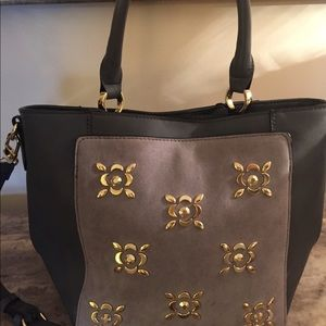 Kate Landry gray crossbody satchel bag